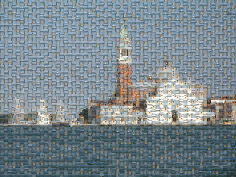 Mosaic Picture from Venice generated with AndreaMosaic